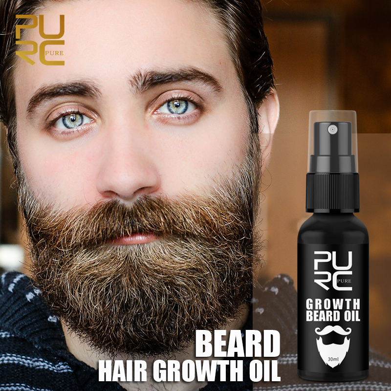 Pure Beard Growth Oil Men Anti Hair Loss Grow Moustache Essence Oil Thicker Fuller Gentlemen