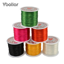 цены 1mm 60 Meters/roll Colorful Stretch Elastic Crystal Line Beading Cord Wire String Thread DIY Bracelet&Necklace Jewelry Making