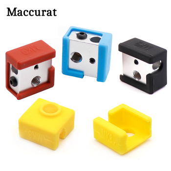 1pc 3D Printer MK8 Silicone Socks Block Heater Silicone Insulation cover for Replicator Anet a6 a8 i3 MK7 / MK8 / MK9 1pc blue pink black mk7 mk8 mk9 silicone socks for ender creality cr 10 anet reprap tronxy x5s silicone heater block cover
