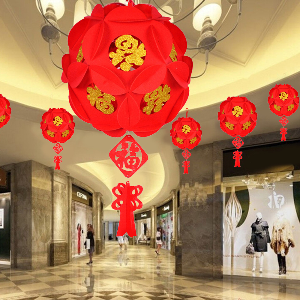 8 S RED LUCK M COLOR PAPER LANTERN BIRTHDAY WEDDING CHINESE JAPANESE SHOP PARTY