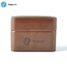 TinHifi פח אודיו מיני תיק אוזניות קשה תיבת תיק אוזניות מקרה נייד עור מפוצל אוזניות אחסון תיק