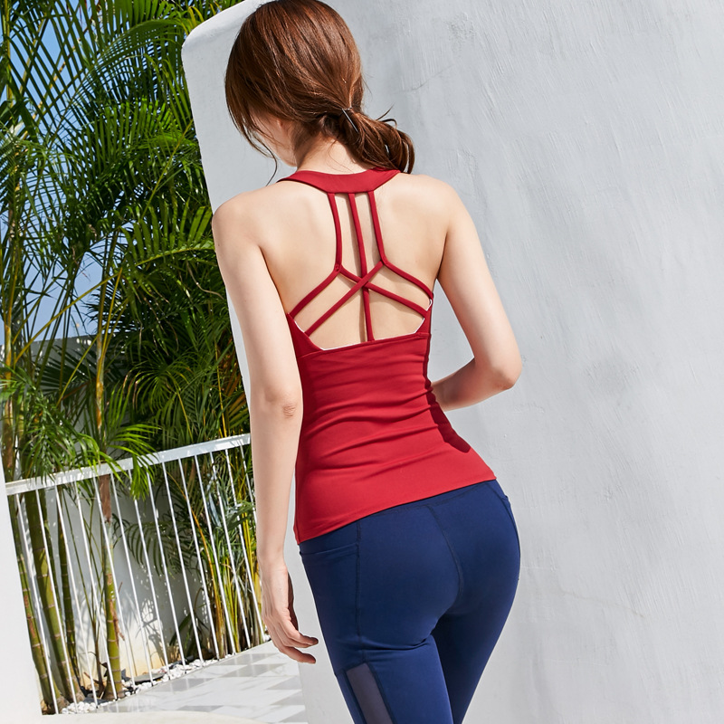 The New Hollowed Out Open Back Body, Thin Mesh Trousers, Sweat Absorption And Quick Drying Exercise Fitness. Dance.Sports Suit