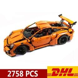 20001, 20001B, 2758 шт., техник, спортивная машина, Гоночная машина, 911, модель GT3RS, строительные блоки, совместимые с Legoings 42056, игрушки, рождественский ...