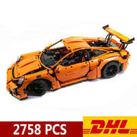 20001 20001B 2758pcs Technic Sports Car Race Car 911 GT3RS Model Building Blocks Compatible Legoings 42056 Toys Christmas Gift