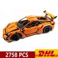 20001 20001B 2758pcs Technic Sports Car Race Car 911 GT3RS Model Building Blocks Compatible Legoings 42056 Toys Christmas Gift