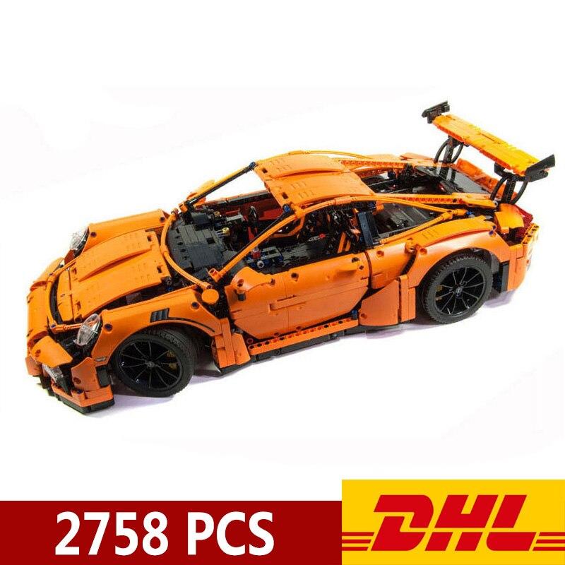 20001 20001b 2758 pçs técnica carro de corrida esportes 911 gt3rs modelo blocos construção compatível legoings 42056 brinquedos presente natal