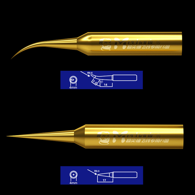 MECHANIC Precision Soldering Iron Tips 900M-T-FS FI Dedicated for Fly Line Pure Copper 936 Soldering Iron Station Welding Tips 2