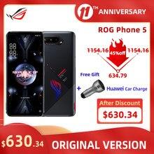Asus rog telefone 5 snapdragon 888 5g telefone de jogos nfc 16 ram nfc 144hz display 6000mah carregamento rápido 65w 64mp rog5mobile telefone