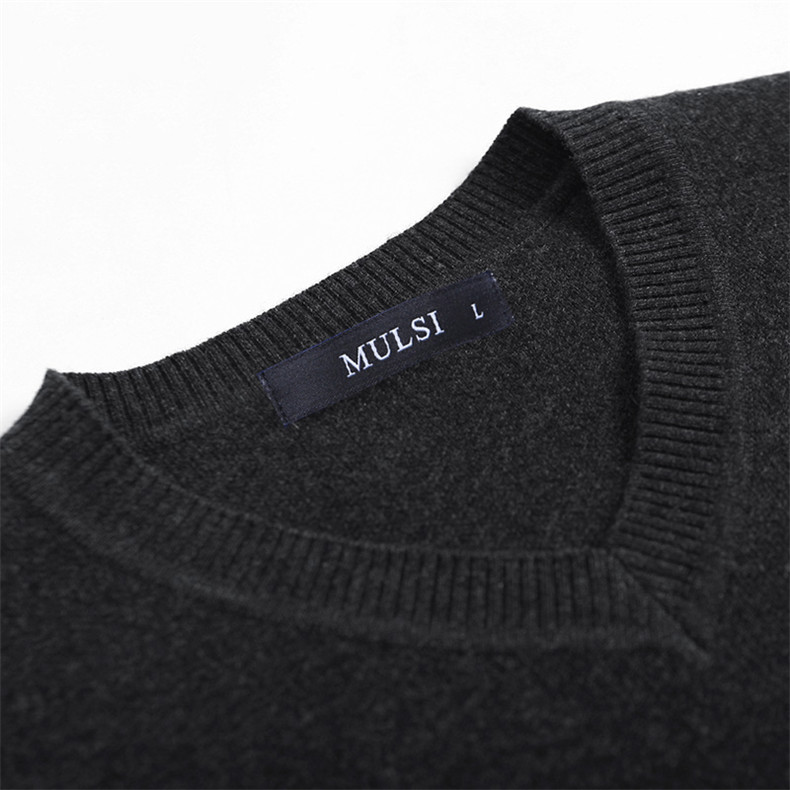 Slim Sweater Pollovers Men Casual Cotton Sweater Jumper Pullover Male Business V-Neck Knitwear Jersey Man Plus Size 4XL Black 08
