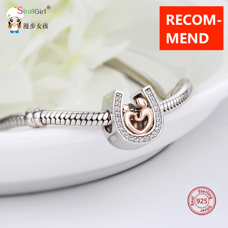 Strollgirl Bracelet Beads Charms-Fit Horseshoe Jewelry-Making-Gift 925-Sterling-Silver