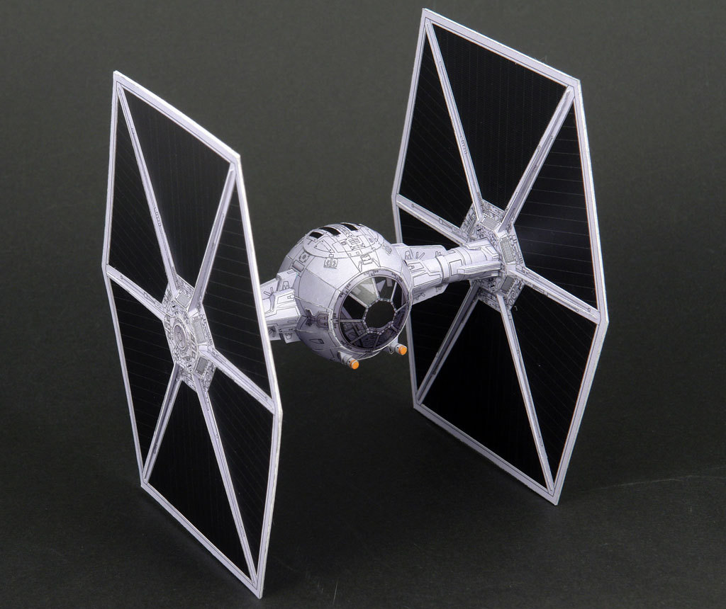 22cm For Star Wars TIE Fighter 3D Paper Model Spaceship Craft Manual DIY Hobby Collection Gift Spaceship Toys For Children