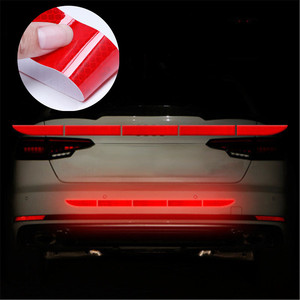 Pegatina reflectante para parachoques de coche, pegatina reflectante para Volvo, Ford Focus, VW, JETTA, MK6, GOLF 5, 6, 7, Skoda, Fabia, Cruze, Hyundai, Solaris