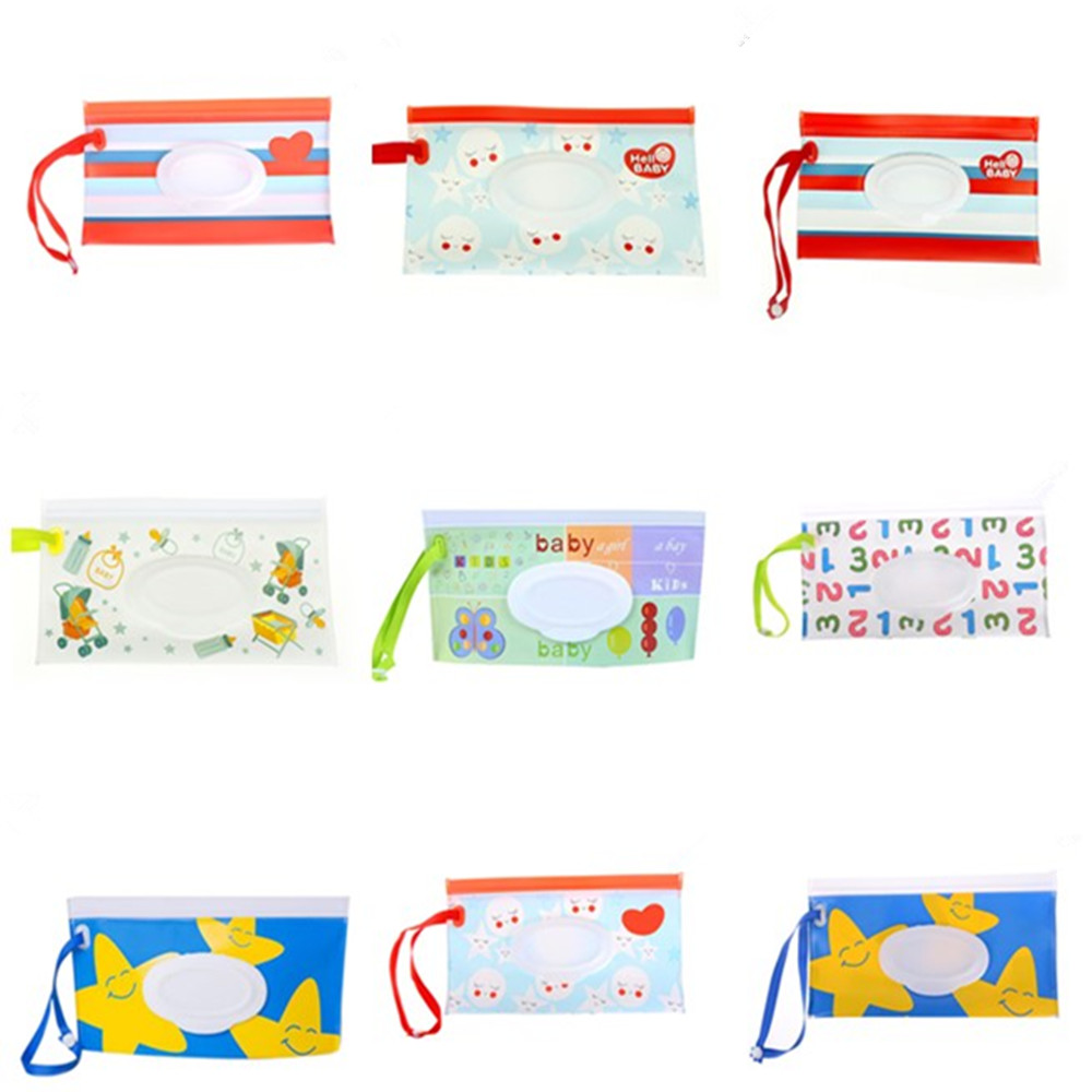 Multi Styles Outdoor Travel Baby Newborn Kids Wipe Case Box Wet Wipes Dispenser Box Bag Eco-friendly Wet Paper Towel Box
