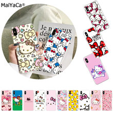 Maiyaca Panas Modis Hello Kitty Di Jual Aksesoris Cover UNTUK iPhone 11 Pro 8 7 66S Plus X 5S SE XR XS X Max Cover(China)