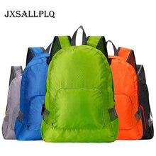 купить JXSSLLPLQ 20L Lightweight Collapsible Waterproof Backpack Custom LOGO Travel Camping Hiking Bag Backpack Outdoor Riding Backpack дешево