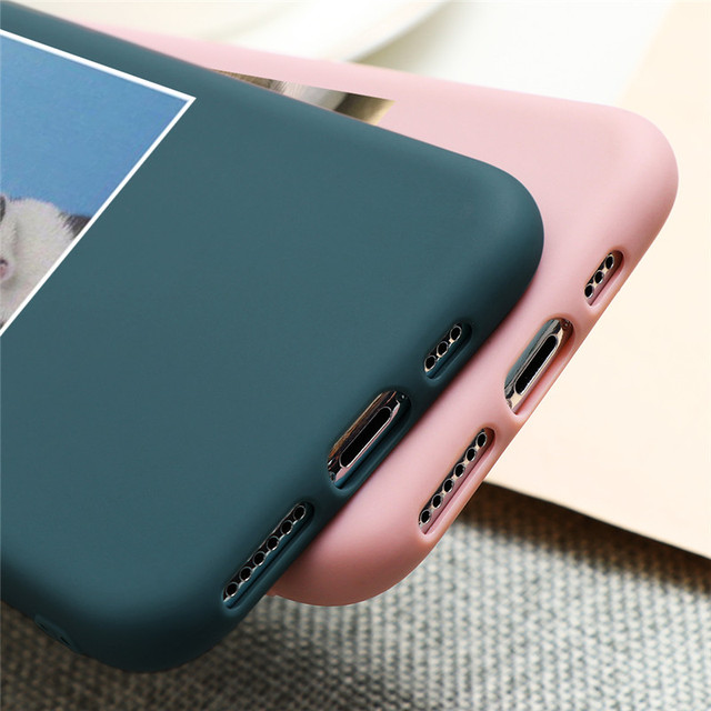 Cute Cat Dog Animals Case For iPhone 7 8 6 6s Plus 5 5S SE 2020 Candy Color Soft Cover For iPhone 12 11 Pro XS Max XR X TPU Case 5
