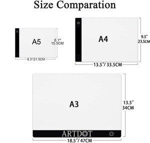 Image 2 - 다이아몬드 페인팅, usb 전원 5d 다이아몬드 자수 액세서리 라이트 보드 도구 키트에 대한 a4 led 라이트 패드