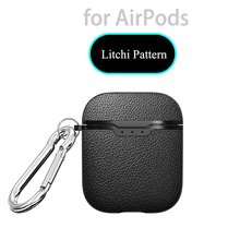 Litchi Soft TPU Case for Airpods 1 2 Cover Silicone Rubber Business Full Protective