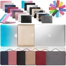 KK&LL Apple MacBook Air Pro Retina 11 12 13 15&New Air13/Pro 13 15 Touch Bar Hard Shell Laptop case+Sleeve Bag+Keyboard Cover