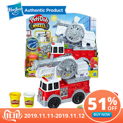 Hasbro Play-Doh Wielen Brandweerwagen Speelgoed met 5 Niet Giftig Kleuren Inclusief Play Doh Water Verbinding fire rescue speelgoed
