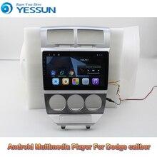 Auto Android 9,0 Multimedia Player Für Dodge caliber 2007 2009 GPS Navigation Großen Bildschirm AUTO Radio Bluetooth unterstützung EQ