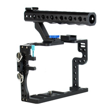 Jaula de cámara con asa superior tornillos de agarre funda protectora soporte de montaje para Panasonic GH3 / GH4 foto de cámara Kit de fotografía de estudio