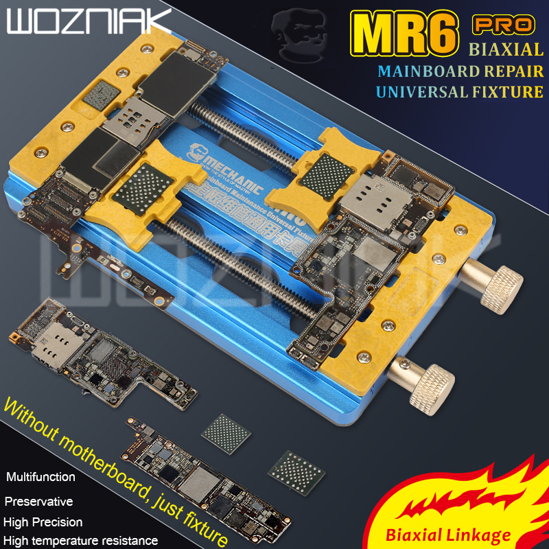 MECHANIC Universal Double Bearing Fixture High Temperature Phone IC Chip Motherboard Jig For IPHONE 6-11pro Max Repair Tool
