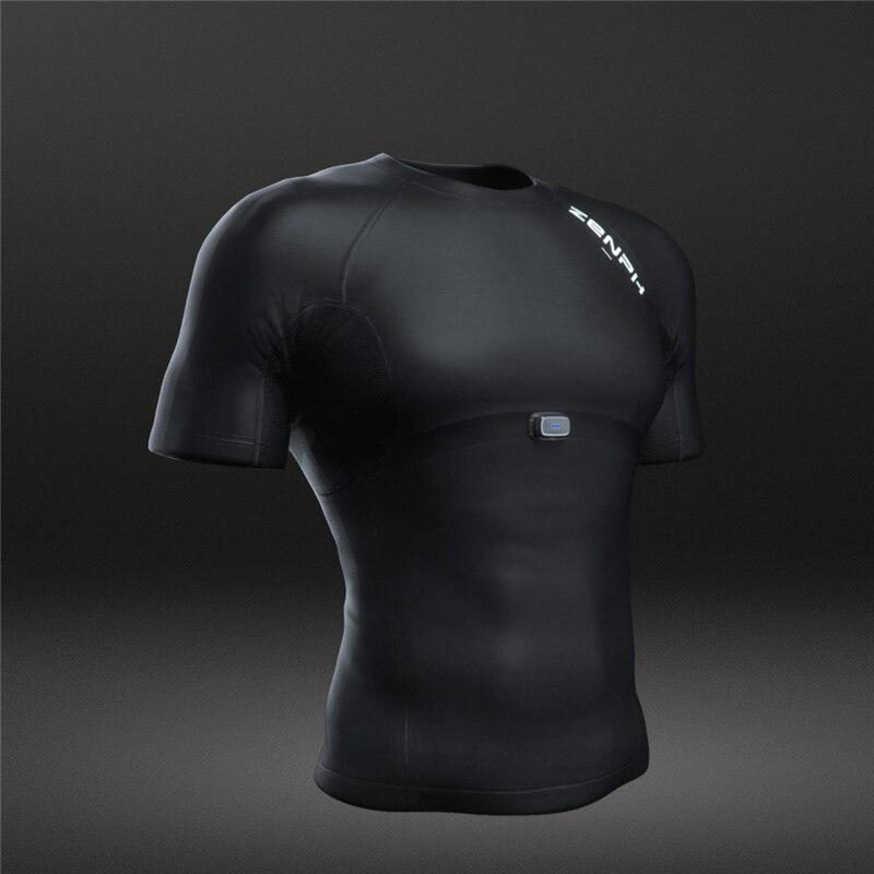 Zenph умная спортивная одежда, летняя футболка для фитнеса и бега, высокая эластичность, быстросохнущая, мониторинг в реальном времени, смарт ...