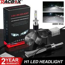 H1 LED żarówka do przedniego reflektora światła zestaw lampowy 72W 36W 7000LM H7 H8/H9/H11 9005/HB3 9006/HB4 H4 samochód żarówki LED, reflektory oplot miedziany drut