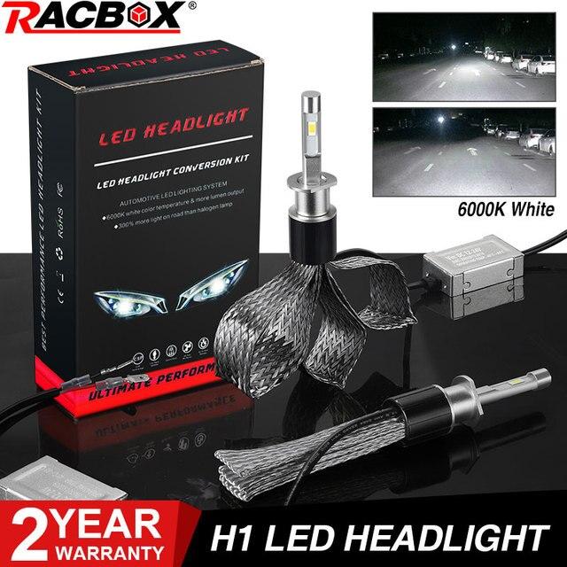 Kit de lampes à ampoule H1 phare LED 72W 36W 7000LM H7 H8/H9/H11 9005/HB3 9006/HB4 H4 pour voiture phare LED s