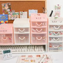 Holder Desk-Organizer Storage-Box Drawer Office-Stationery Desktop MINKYS Kawaii School