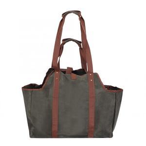 Image 5 - Bolsa de almacenamiento duradera para el hogar, bolsa de madera encerada, portátil de viaje, grande, gruesa, organizador bolsa