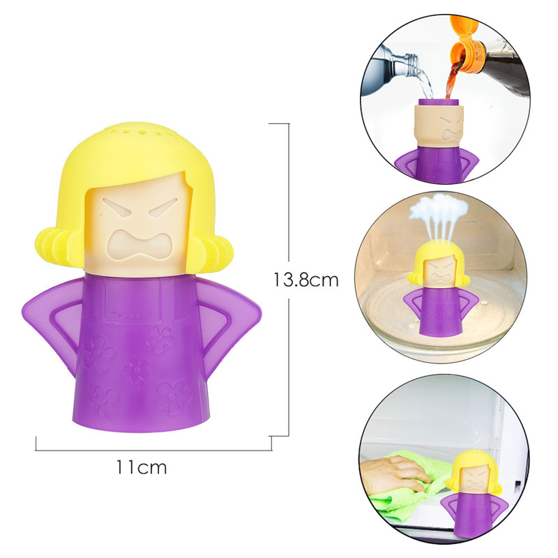 Creative Angry Mother Shaped Microwave Cleaner With Natural Steam Power to Remove Oil and Dirt 5