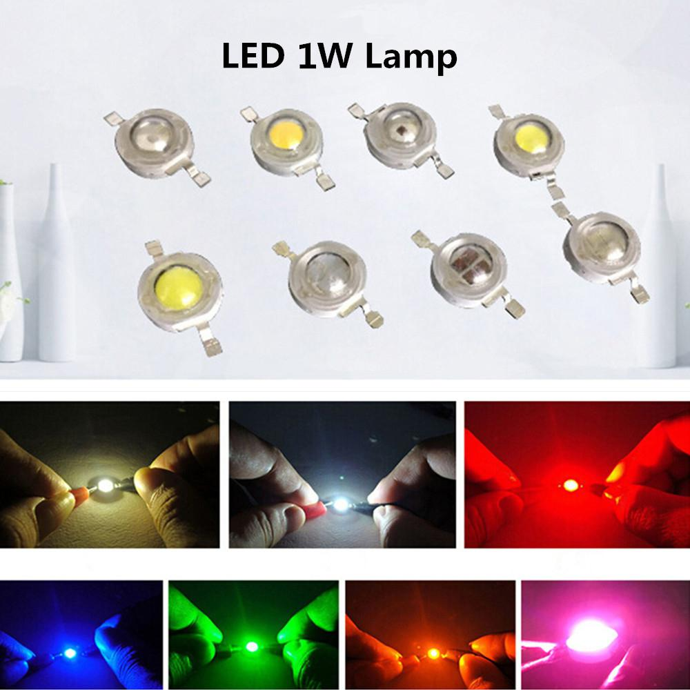 HiMISS 10Pcs/Set 1W LED Super Bright Lamp Beads Night Light For Flashlight Stage Yard Bulb Spot Light Bulb Lamp Beads
