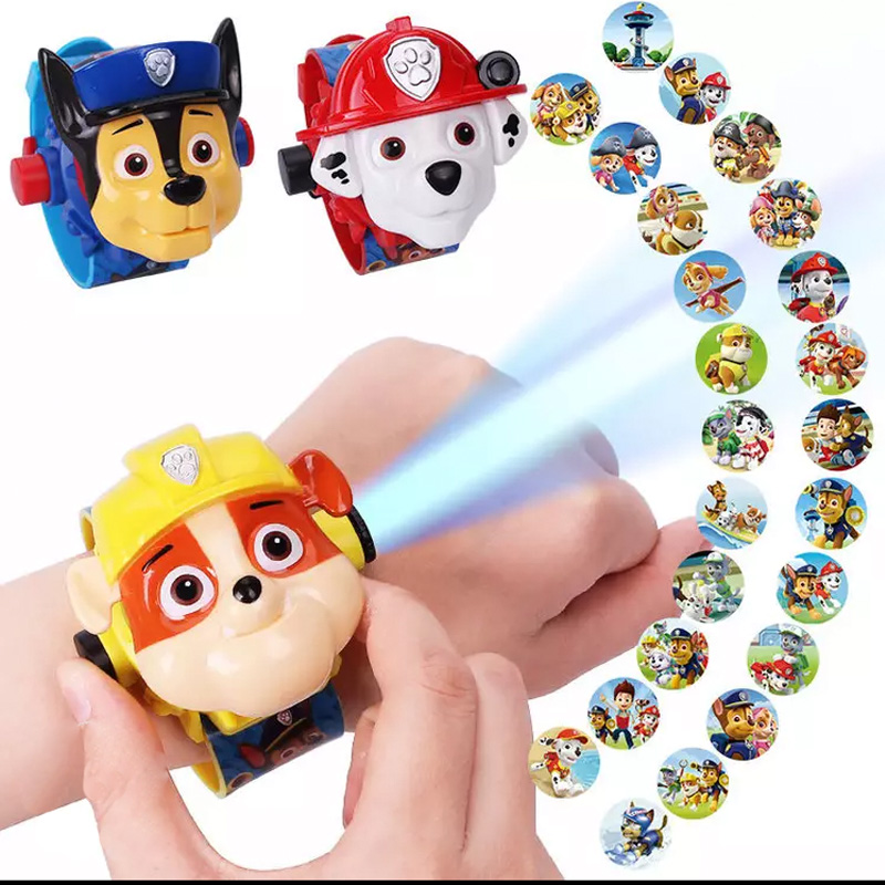 Paw Patrol Watch Toys Set 3D Projection Action Figure Paw Patrol Birthday Anime Figure Patrol Paw Patrulla Canina Toy Gift 34Z