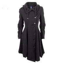 long coat women winter 2019 o-neck womens plus size fashions black coats autumn 2018 korean elegant mama love ladies new
