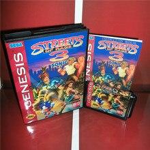 Nur Arbeit auf NTSC U Straßen von Wut 3 Sonic Version UNS Abdeckung mit Kasten und Handbuch Für Sega Megadrive Genesis spiel Konsole MD karte