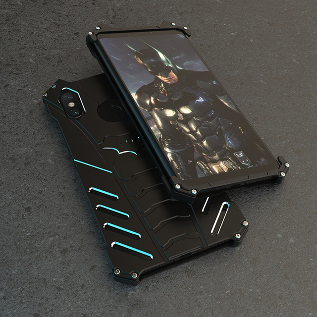 For Xiaomi Mi 10 9 Pro 6X Case BATMAN Armor Heavy Duty Metal Aluminum Case For Xiaomi Max 3 Mix 2S Mi 8 9 Lite Mix 3 Play Cover