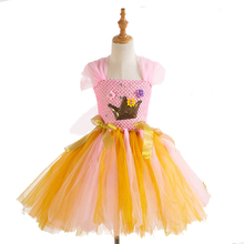 Girls Crown Princess Costume Cosplay Dress Children Halloween Costume For Kids Christmas Party Dress Up цена и фото