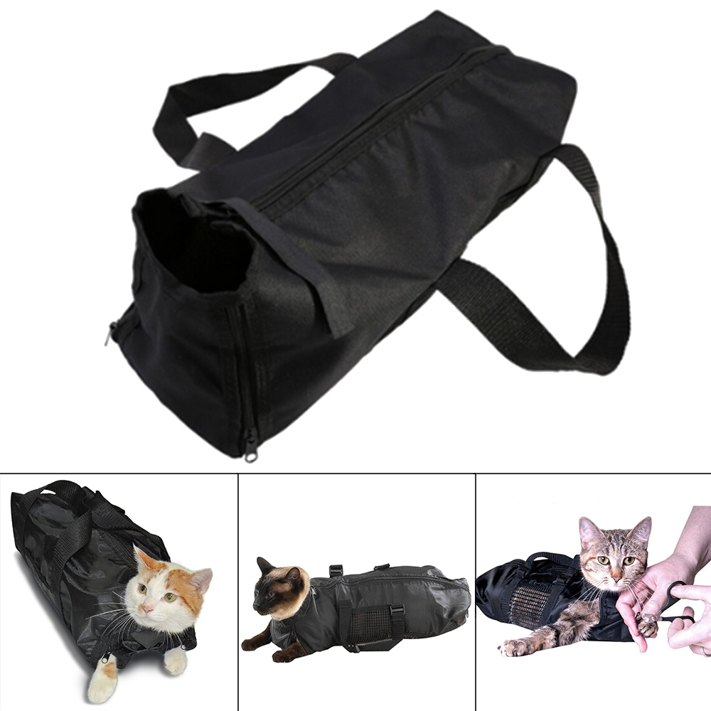 Cats Bath Bag Adjustable Mesh Cat Grooming Washing Bags for Pet Bathing Nail Trimming Injecting Anti Scratch Bite Restraint