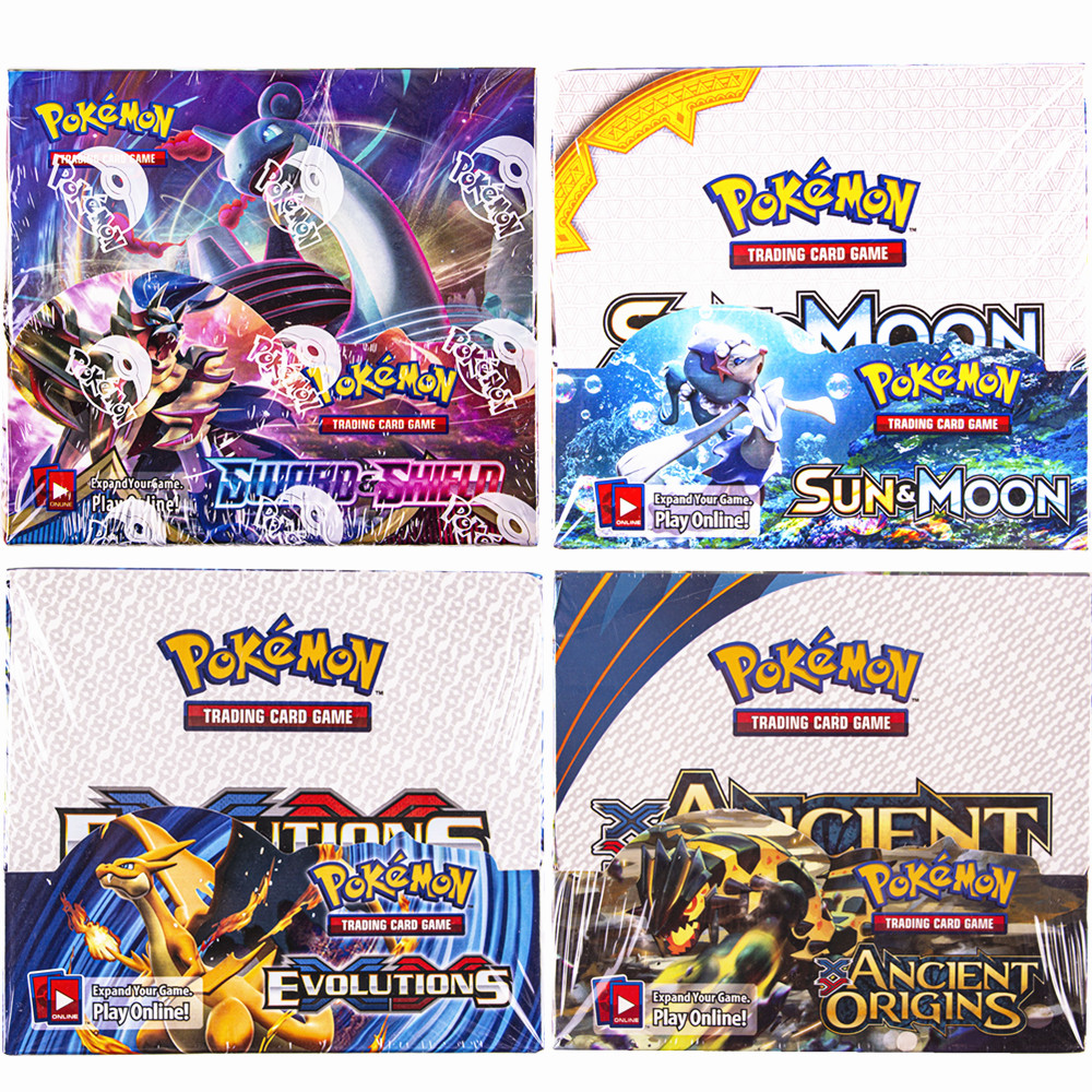 324Pcs/box All Versions Pokemon Cards XY Sun&Moon Sword&Shield 36 Pack Booster Box Collection Toys