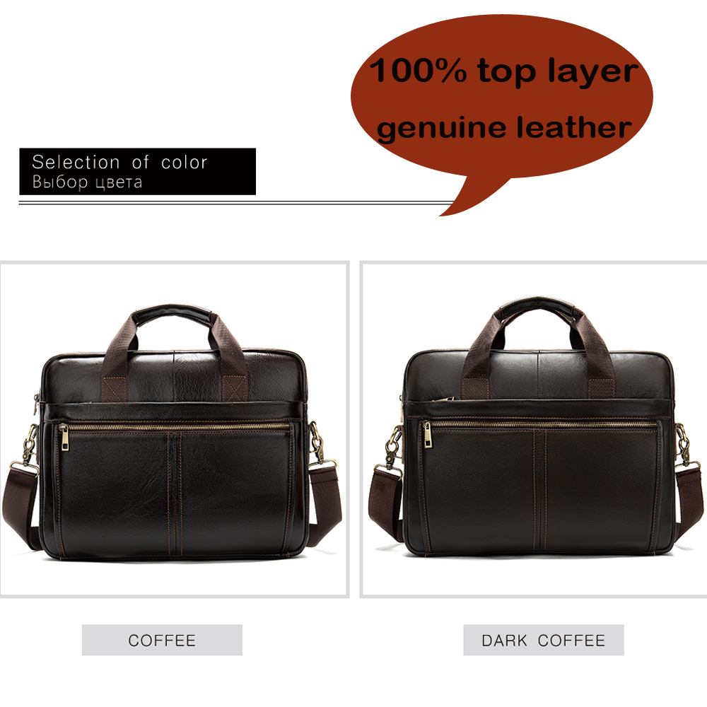 Image 4 - WESTAL briefcase messenger bag mens genuine leather 14 laptop  bag mens briefcases office business tote for document 8572Briefcases