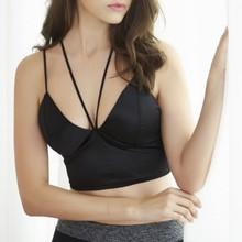 Sexy Deep V Bras Neck Sling Y-cross Straps Shoulder Beauty Back Tube Tops Underwear