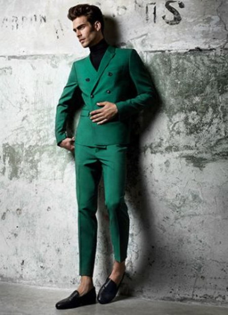 New Arrived Green Men Suits Blazer Luxury Slim Fit Tailored Tuxedo Formal Wedding Suit Terno Masculino 2 Pieces (Jacket+Pants)