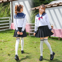 Costume Jk-Uniform Sailor-Suit Pleated-Skirt Navy Long-Sleeve Cosplay Anime Japanese-Style