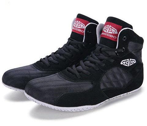 MEN professional Nubuck Oxford boxing wrestling fighting shoes MMA Stong grip anti-slip training boxing wresting Squat shoes