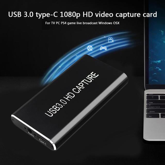 USB 3.0 التقاط الفيديو HDMI إلى USB نوع C 1080P بطاقة فيديو عالية الدقة ل PS4 PC لعبة بث مباشر