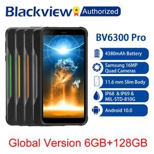 Image 1 - BLACKVIEW BV6300 Pro IP68 Waterproof Rugged Phone Helio P70 6GB+128GB Smartphone 4380mAh Android 10.0 Mobile Phone 4 Rear Camera