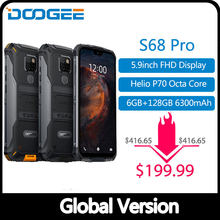 IP68 Waterproof DOOGEE S68 Pro Rugged Phone Wireless Charge NFC 6300mAh 12V2A Charge 5.9 inch FHD+ Helio P70 Octa Core 6GB 128GB(China)