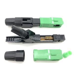 Image 2 - SC APC Быстрый Соединитель встроенный SC адаптер FTTH SC APC Быстрый Соединитель волоконно Обрезной аппарат посылка 10/20/50/100 шт.